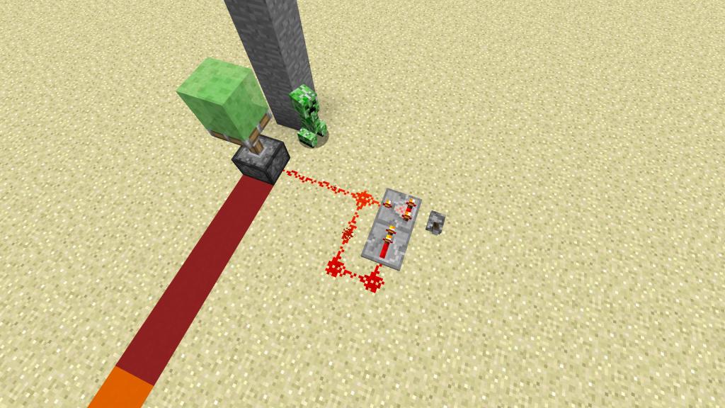 レッドストーン回路とスライムブロック